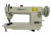 Máquina de costura Reta Industrial Transporte Duplo BC0302,1 agulha,lubri.automática,3000PPM-Bracob