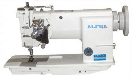 Máq. de Costura Industrial Transp. Duplo 2 agulhas barra fixa c/ lançadeira grande LH-2252-H ALPHA