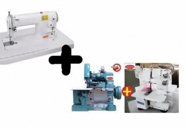 KIT Reta Yamata Industrial + Overlock + Galoneira Semi Industriais Novas
