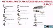 Kit Calcadores Para Reta Industrial, 18 Peças + Brinde