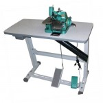 Máquina de Costura Overlock Chinesinha Semi-Industrial Portátil GN1 c/ Bancada 1 Agulha- Fox