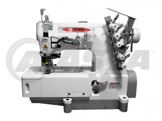Máquina de costura Galoneira Industrial Base Plana Fechada marca Exata EX-31016 Completa