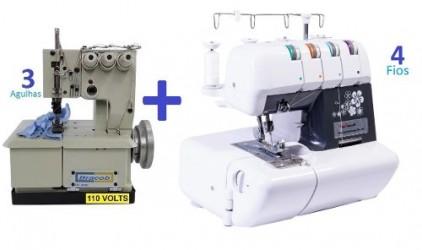 Galoneira Semi-industrial Bracob 3 Agulhas + Ultralock 4 Fios Sun Special