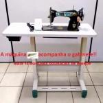 Máquina de costura Reta Semi-Industrial Pretinha com Mesa + Brinde