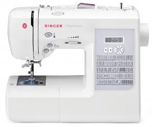 Máquina de costura doméstica Eletrônica Singer Patchwork 7285 com mesa extensora