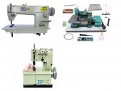 Reta Bracob + Galoneira 2 Agulhas Bracob + Overlock Fox Semi Industriais Novas