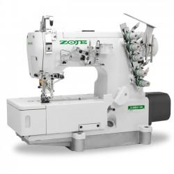 Máquina de costura Galoneira Industrial Base Plana Fechada com Motor Direct Drive,completa
