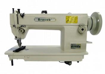 Máquina de Costura Industrial Reta c/ Transp. Duplo Bracob BC0302