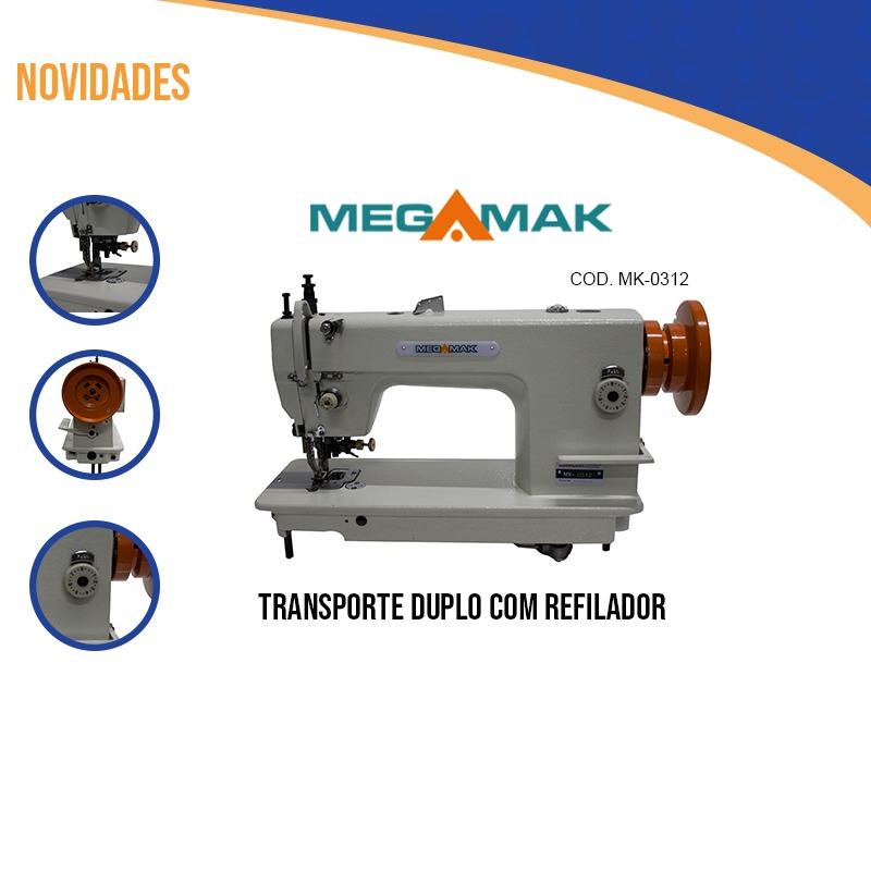 Transporte Duplo1 Agulha Com Refilador Completa Megamak Ms