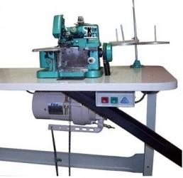 Máquina de Costura Overloque Semi-Industrial c/ Motor Grande+Mesa