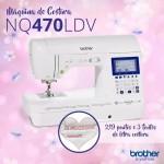 Máquina de Costura eletrônica , 850ppm, 219 pontos, Painel LCD, 3 Fontes BROTHER - NQ470LDV
