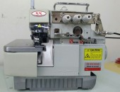 Maquina de costura Overloque Industrial com Embutidor de corrente,completa - Sun Special