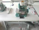 Overlock Semi Industrial Com Motor Grande+galoneira Semi C/ Motor Acoplado