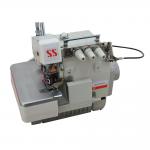 Máquina de costura Overloque Industrial com Embutidor de corrente e Motor Direct Drive 220v,completa