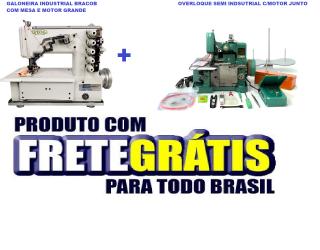 KIT:Galoneira Industrial Bracob+ Overloque Semi Industrial